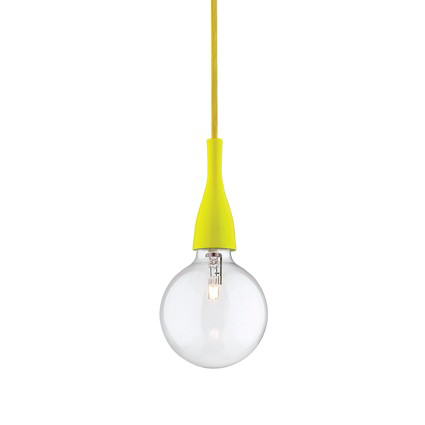 IDEAL LUX Sospensione Minimal Giallo 1 luce Ideal Lux