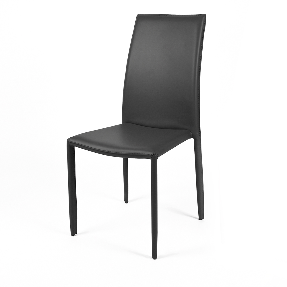 sedia dedis nero in cuoi artificiale , 58x44x97 cm , cribel